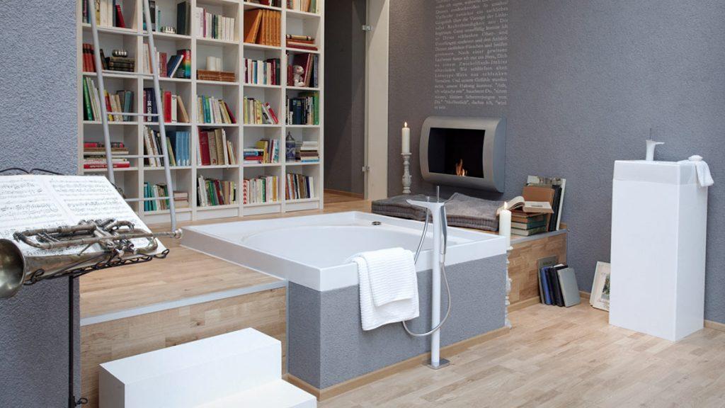 Integrales Bad - individuelle Badriten mit dem Wohnbereich verbinden.