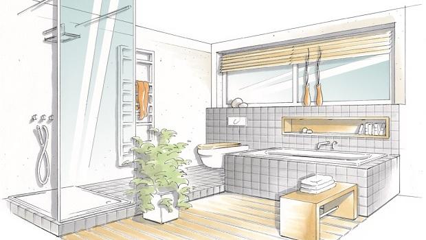 Eine gute Badplanung ist die Voraussetzung für eine gelungene Badrenovierung.